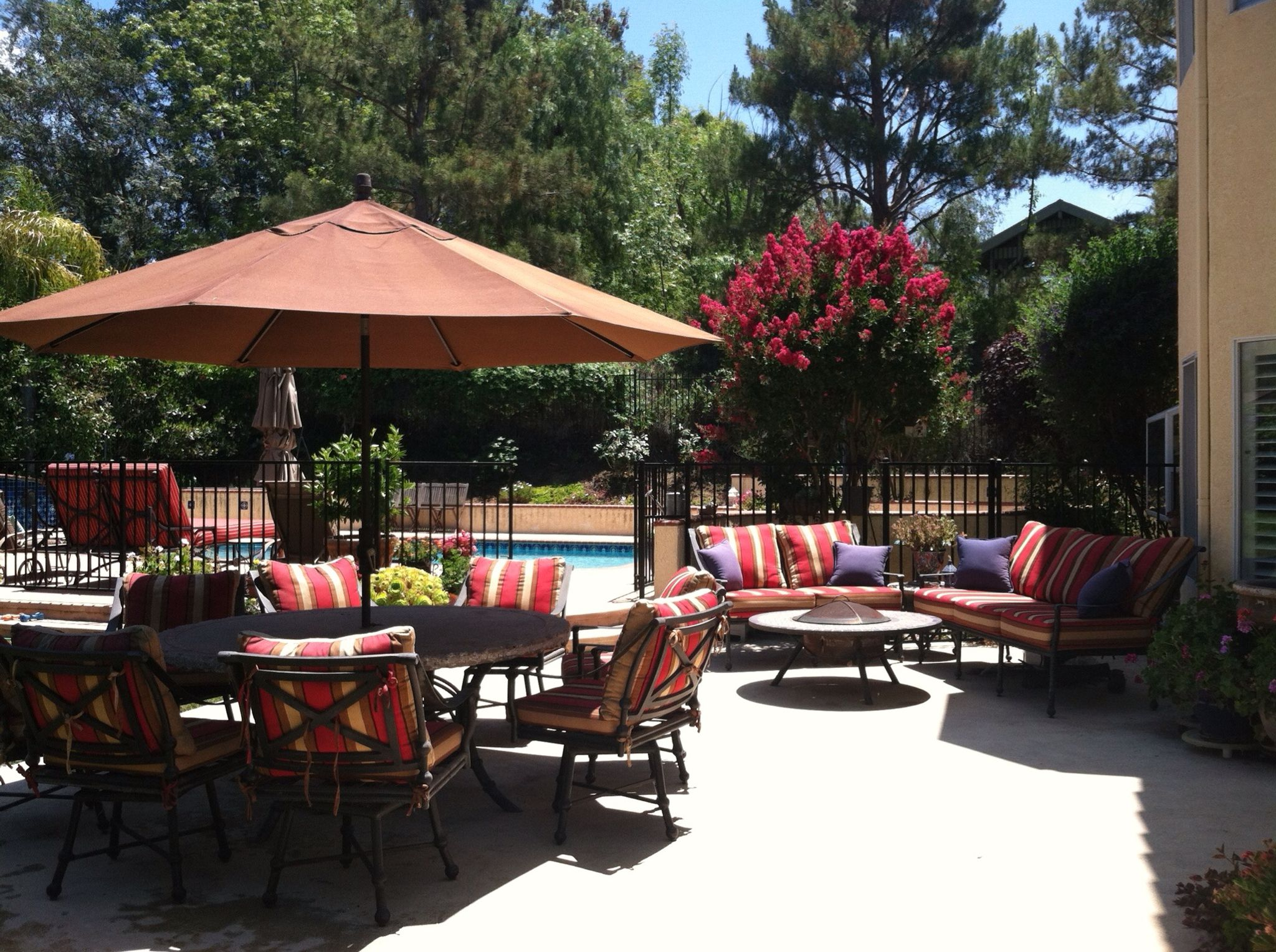 Backyard Patio Alicia Paley Home Interiors California Living Outdoor Lifestyle Decor Upholstery Pool Furniture