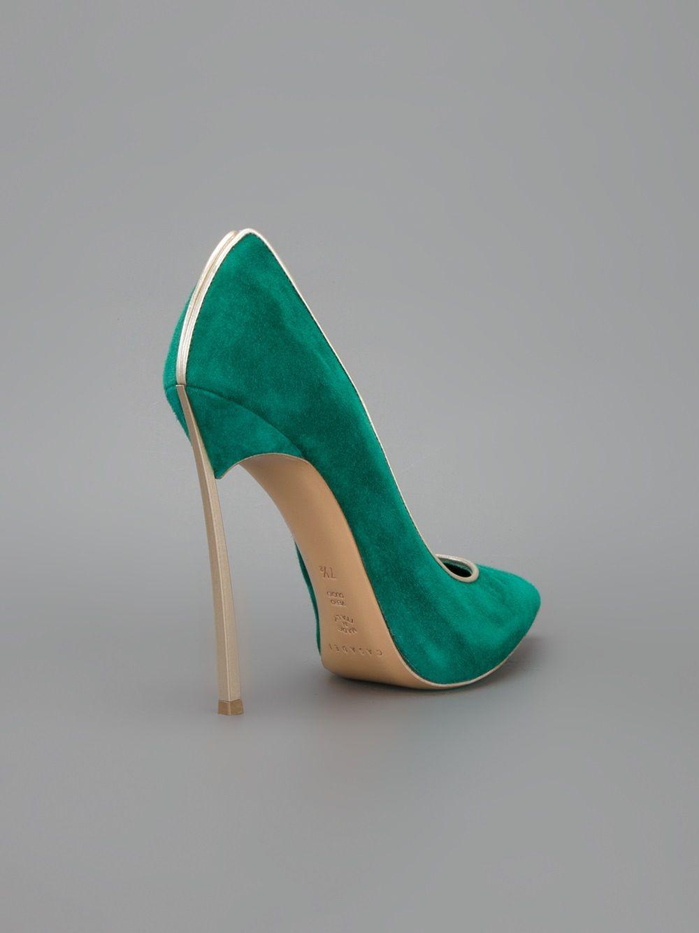 8e6e6df06b7 Casadei Sapato Verde. - Biondini - Farfetch.com