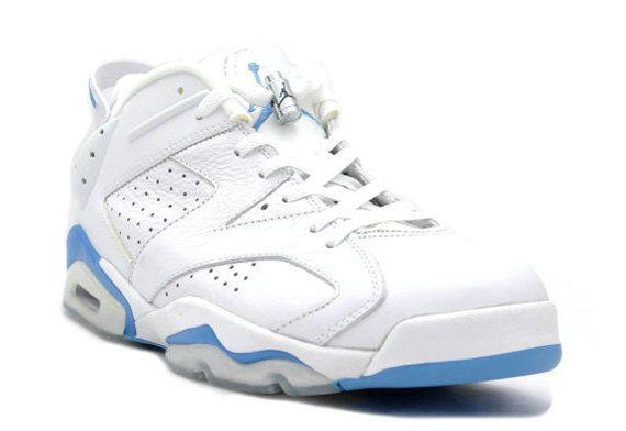 sneakers for cheap 9ec7e 4dffe Genuine 2018 Air Jordan 6 VI Retro Low White University Blue 304401 141