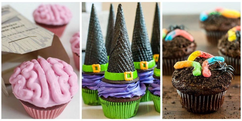 easy decorations for halloween cupcakes