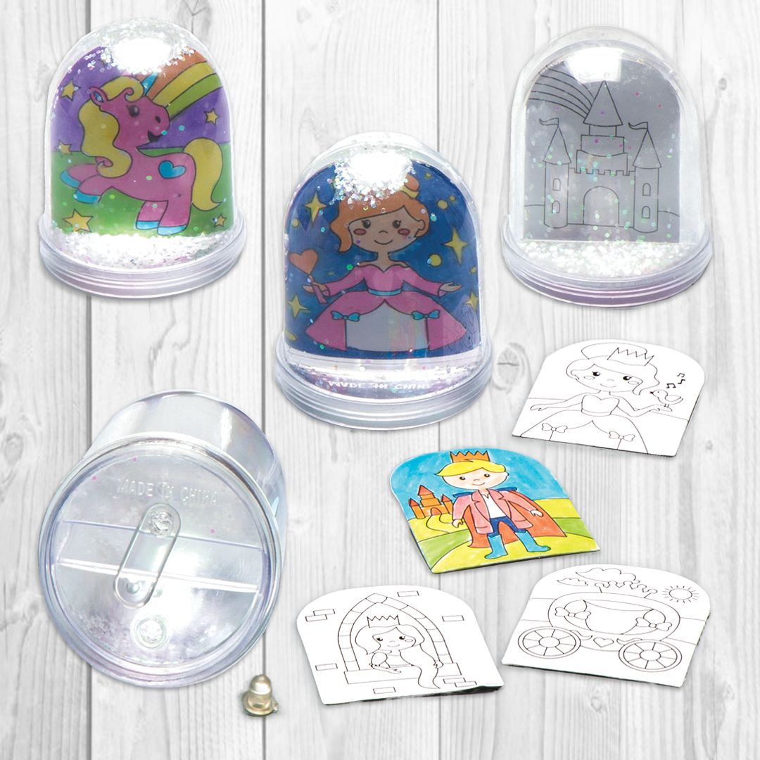 Princess Colourin Snow Globe Kits Bakerross Diy