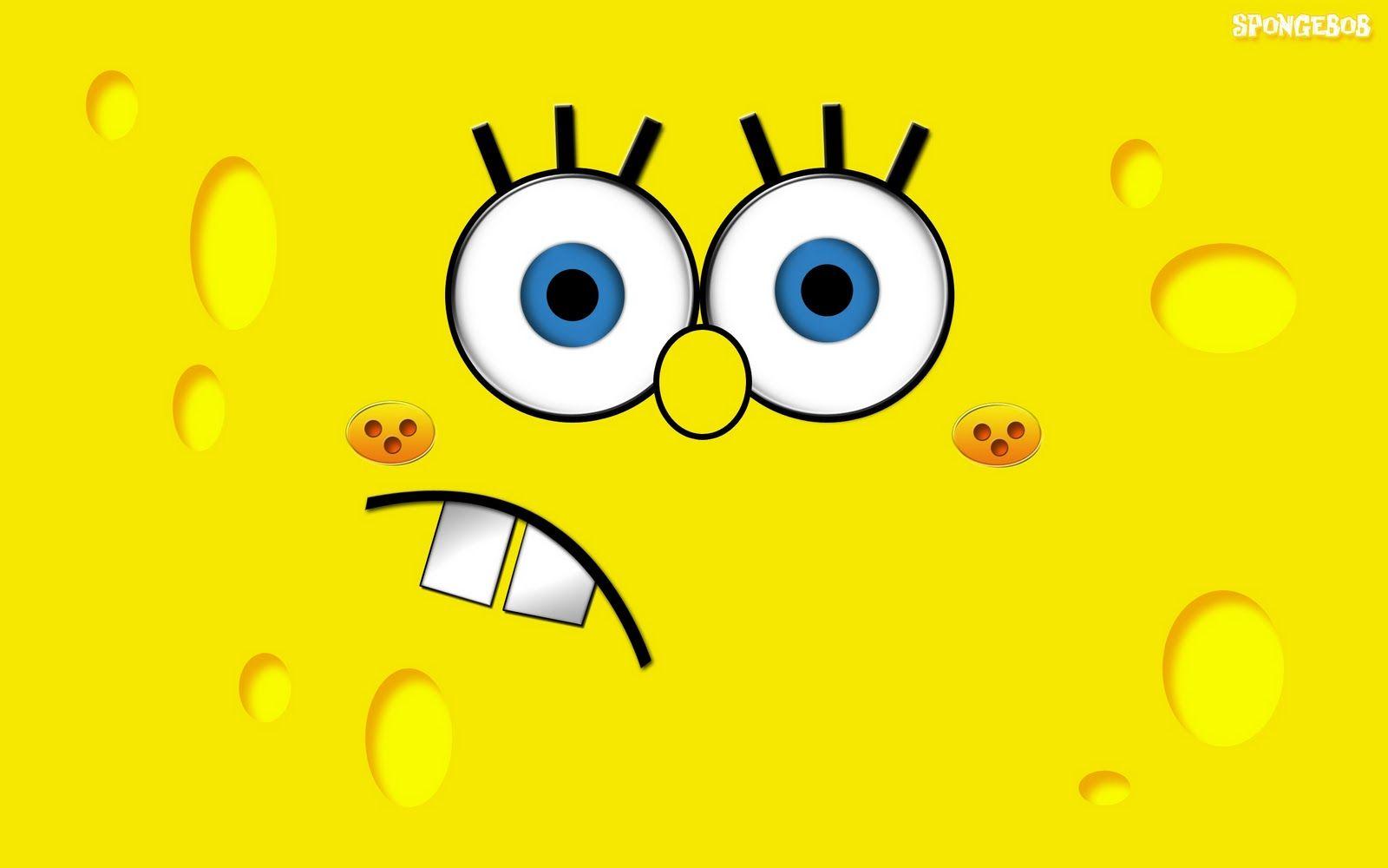 Yellow Spongebob Wallpaper Cartoon Wallpaper Funny Wallpaper