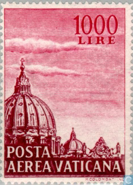 Vatican City - Dome St. Peter's Church 1958