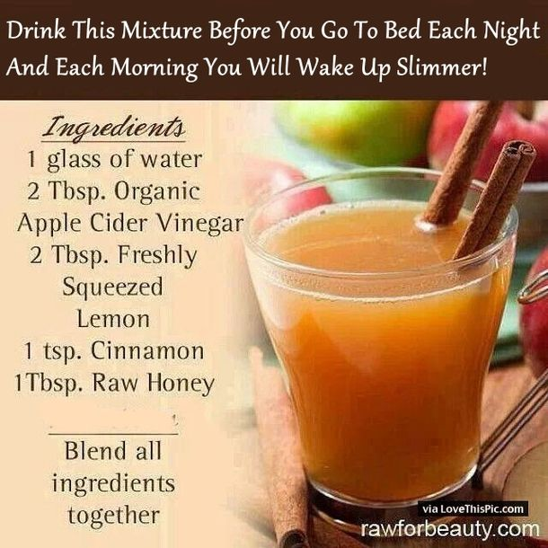 drinking acv before bed