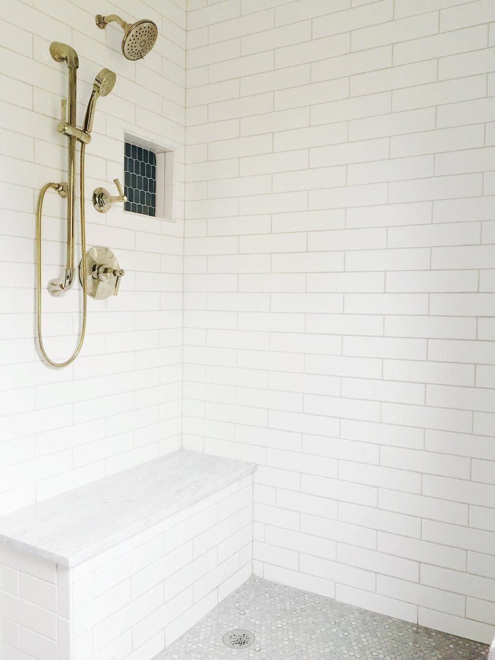 White Subway Tile 3x12 In Our Master Bathroom Renovation Subwaytile Masterbathroom Bathroom I Master Bathroom Renovation Master Bathroom Bathroom Trends