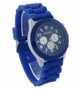 Zegarek Damski Meski Geneva Zelowy Jelly Niebieski Geneva