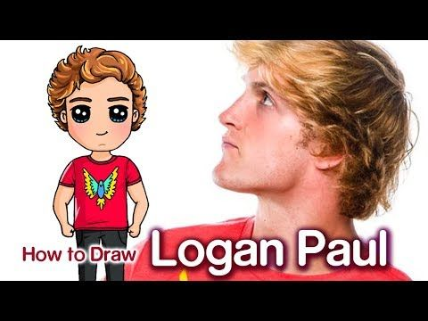 How to draw jake paul famous youtuber youtube