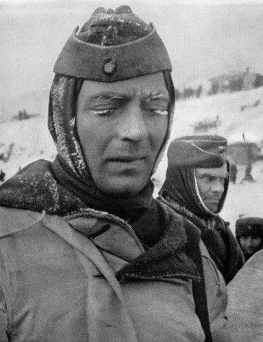 The captured German soldiers in Stalingrad. January 1943.