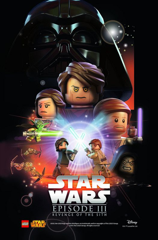 Lego Star Wars Movie Poster Episode 3 Revenge Of The Sith Star Wars Movies Posters Star Wars Poster Lego Star Wars