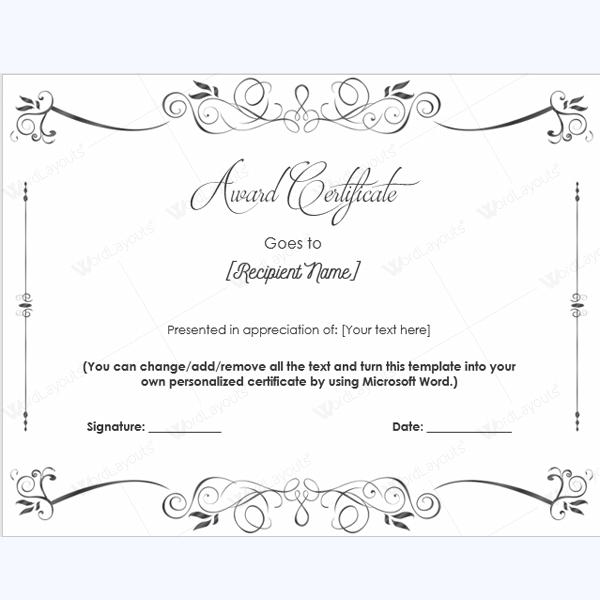 Permalink to Using Formal Printable Award Certificates to Honor ...