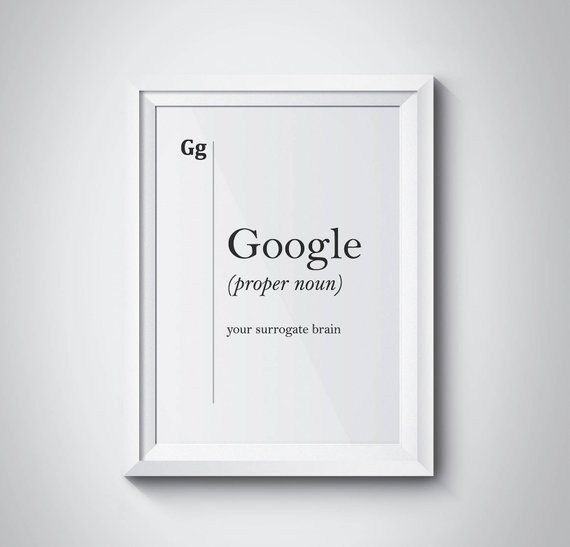Google Definition Print Dorm Decor Friend Gift Google
