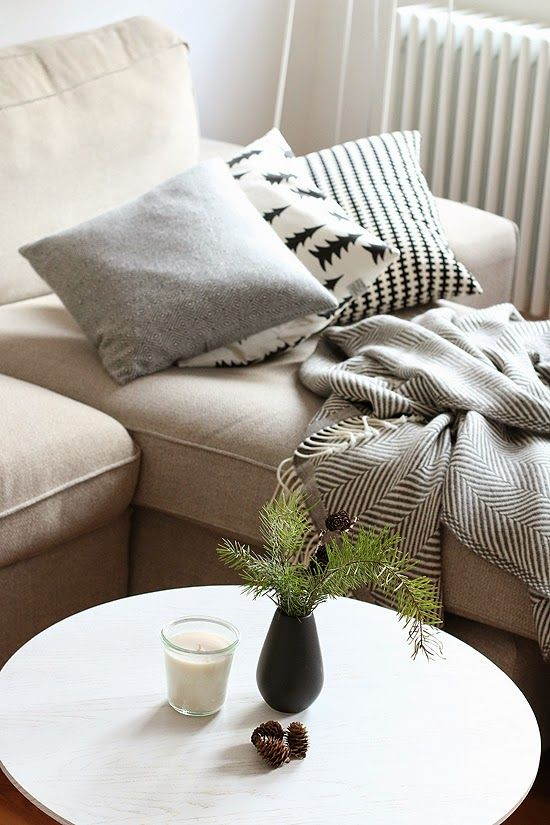 hallo winter Hygge, Wool blanket and Living rooms