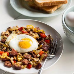 Andouille Sausage and Black-Eyed Pea Hash