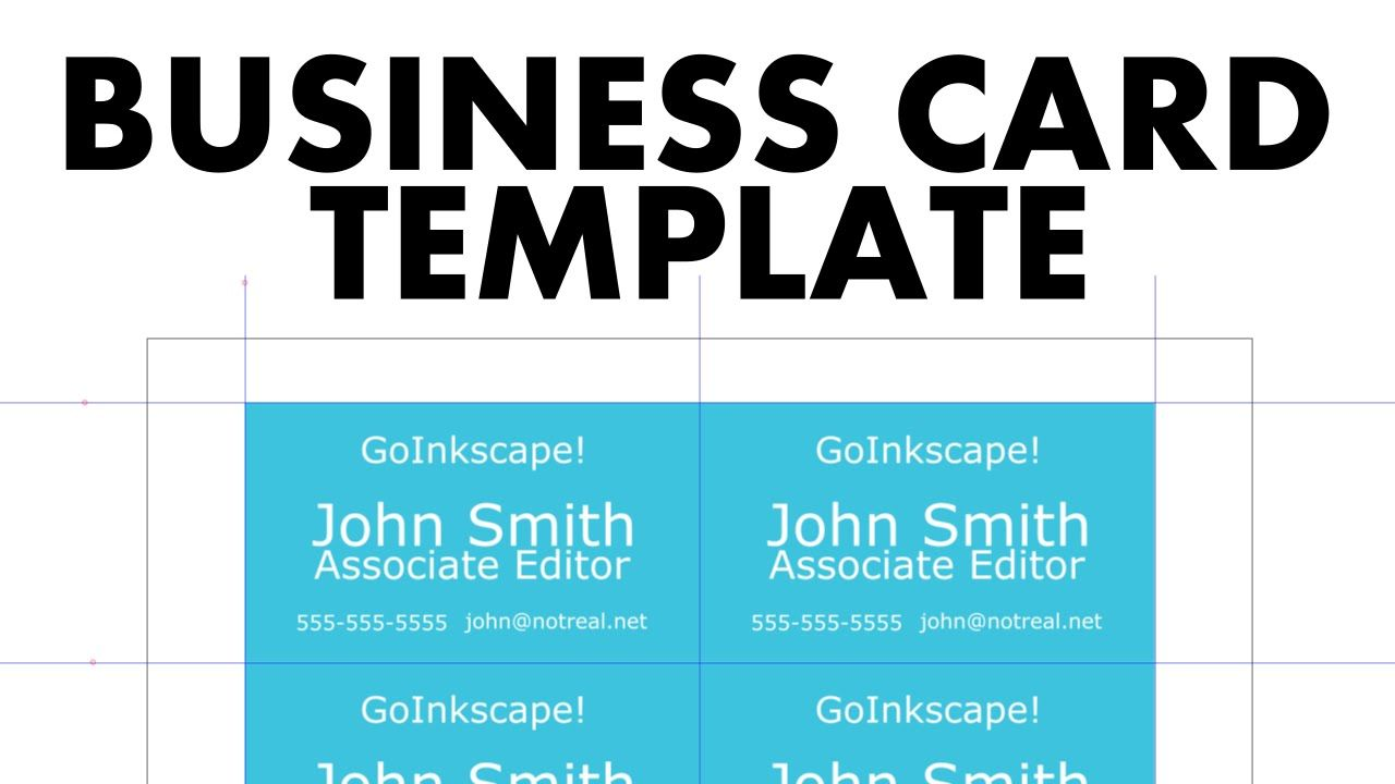 Create A Business Card Template For Printing In Inkscape