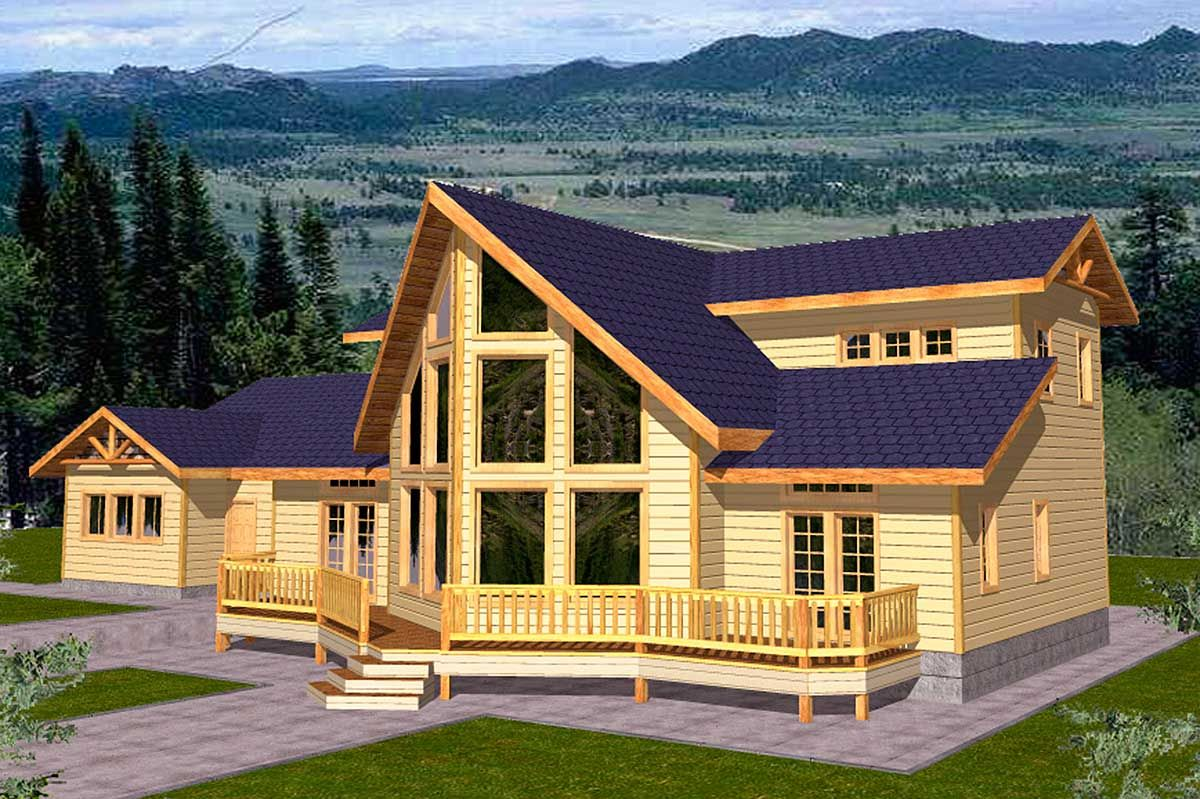 Plan 35100gh Mountain Home Plan For View Lot Mountain House Plans A Frame House Plans Contemporary House Plans