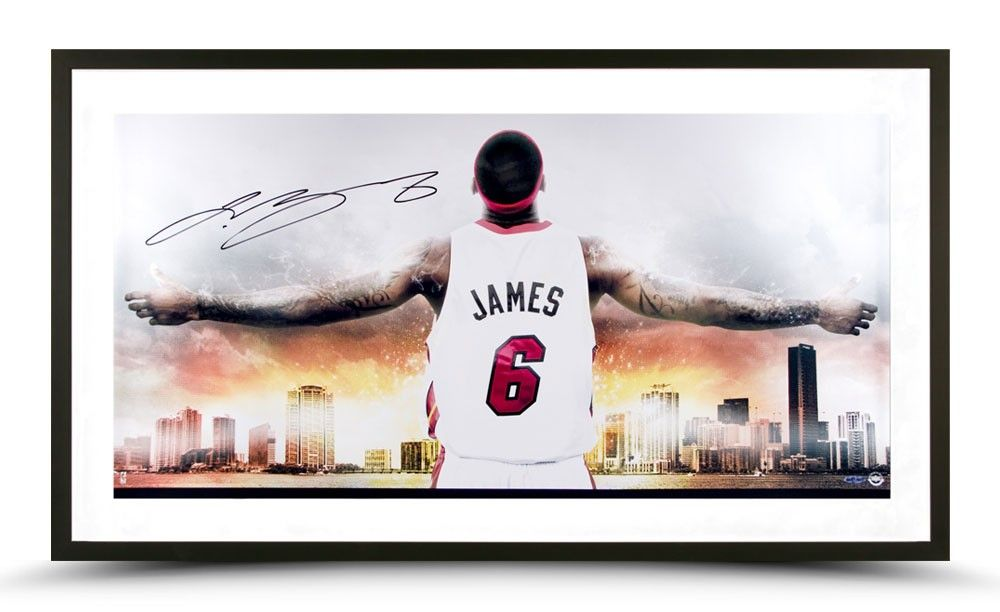info for 25e53 d8228 LeBron James Autographed Witness Miami II Photo