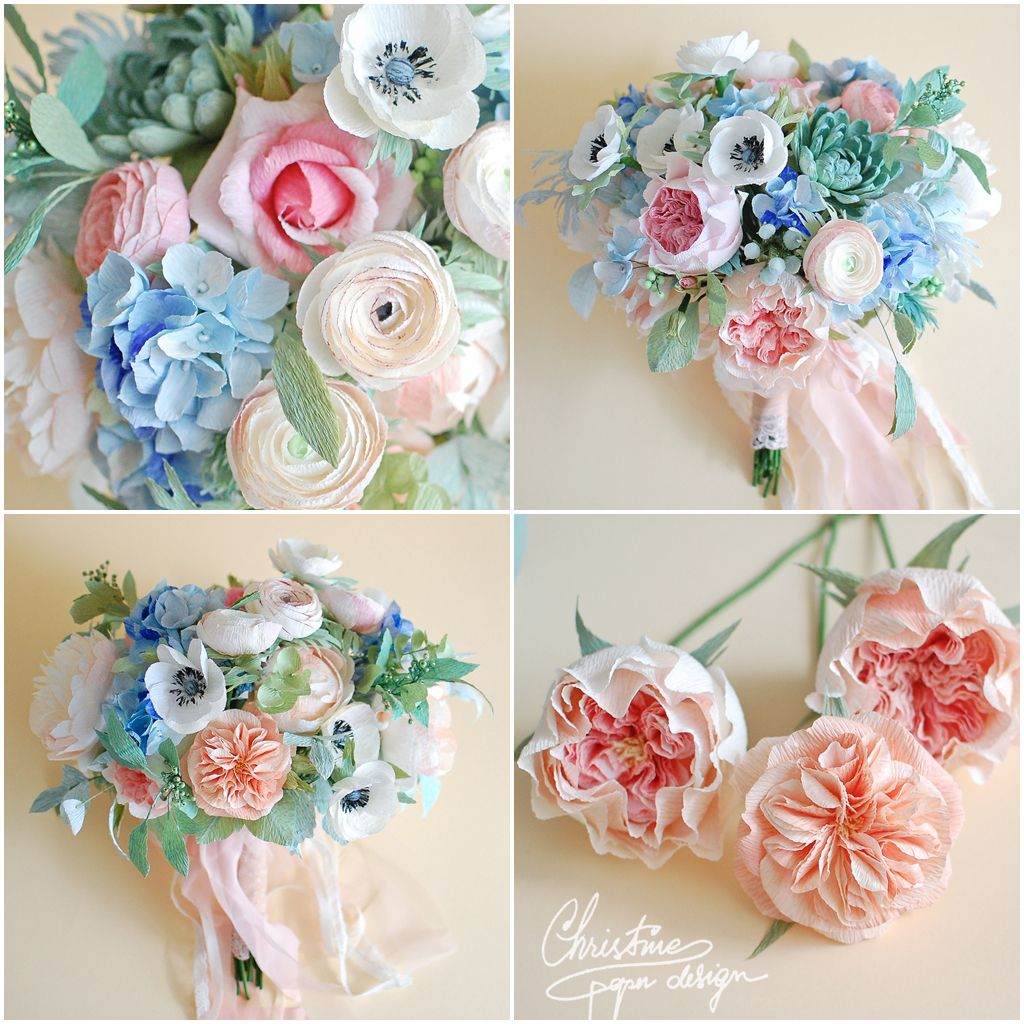 Paper Flowers Bridal Bouquet Shaby Chic3 Paper Flowers Paper