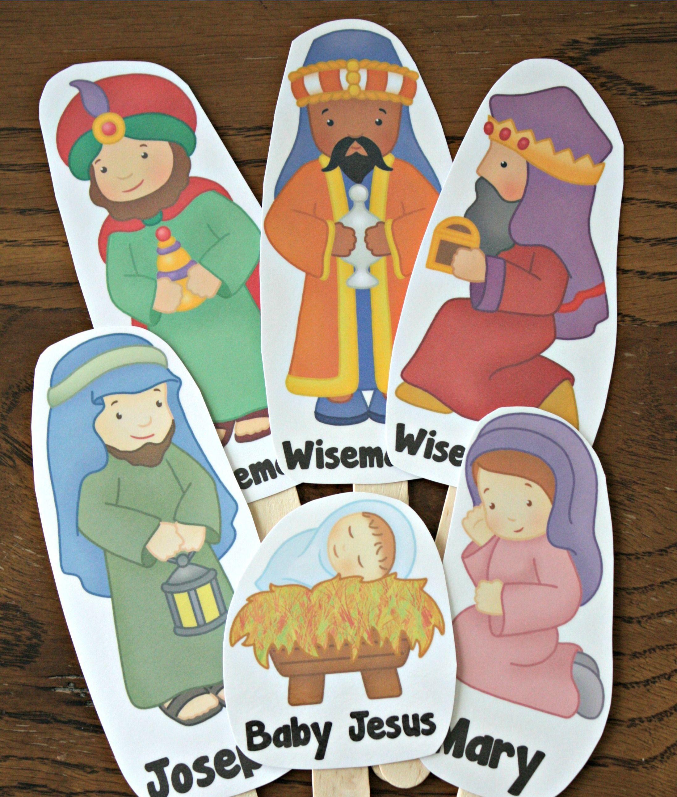 Printable Nativity Stick Puppets