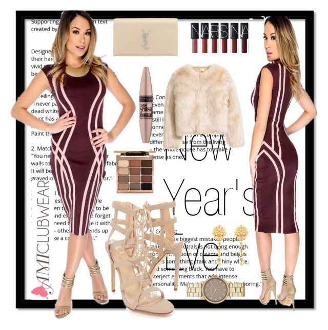 """""""Amiclubwear 17"""" by b-necka ❤ liked on Polyvore featuring Yves Saint Laurent, Stila, Maybelline, Marc Jacobs and Chanel"""