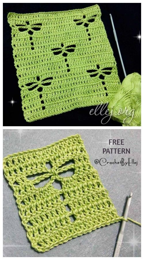 Dragonfly Stitch Free Crochet Pattern #crochetstitches