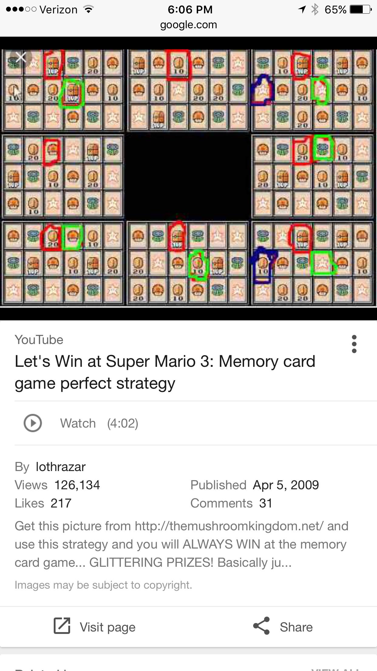 Mario 3 Spade Solution Memory Cards Mario Super Mario