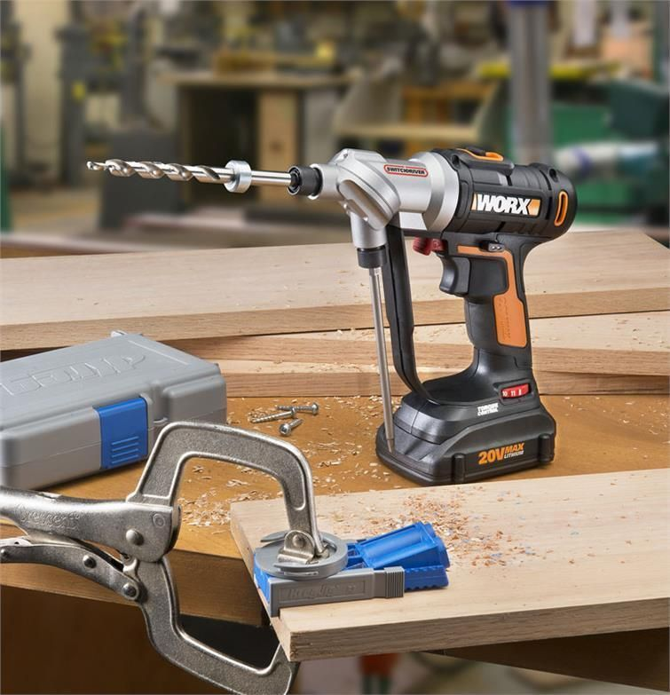 Details About Worx Wx176l 5 Switchdriver 20v Powershare Cordless Drill Driver 2 Batteries Cordless Drill Drill Drill Driver