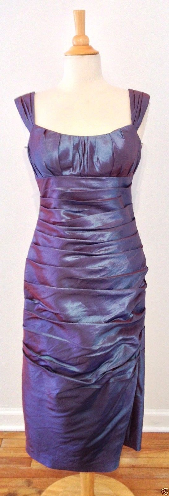 Bill Levkoff Purple Iridescent Formal Cocktail Pencil Dress 10 | eBay - Recycled Couture #Fashion #Apparel #Shopping #eBay