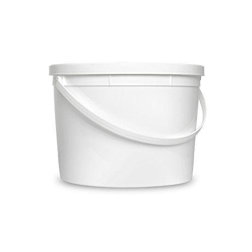 Amazon Com 1 Gallon White Bucket Lid Set Of 5 Durable All Purpose Pail Food Grade Plastic Container Kitchen Plastic Buckets Food Containers Pail