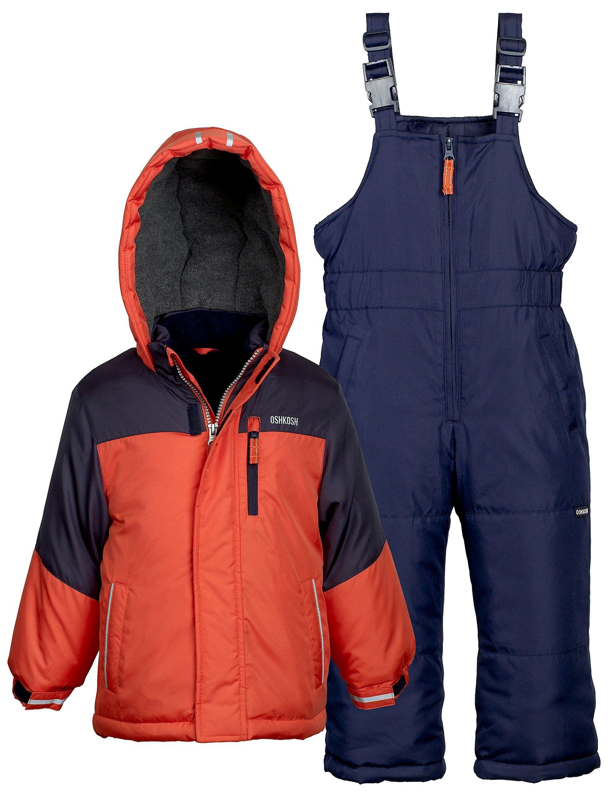 9defc9bce8bb Osh Kosh Boys Kids Winter Snowboard Skiing Parka Jacket   Snow Bib ...