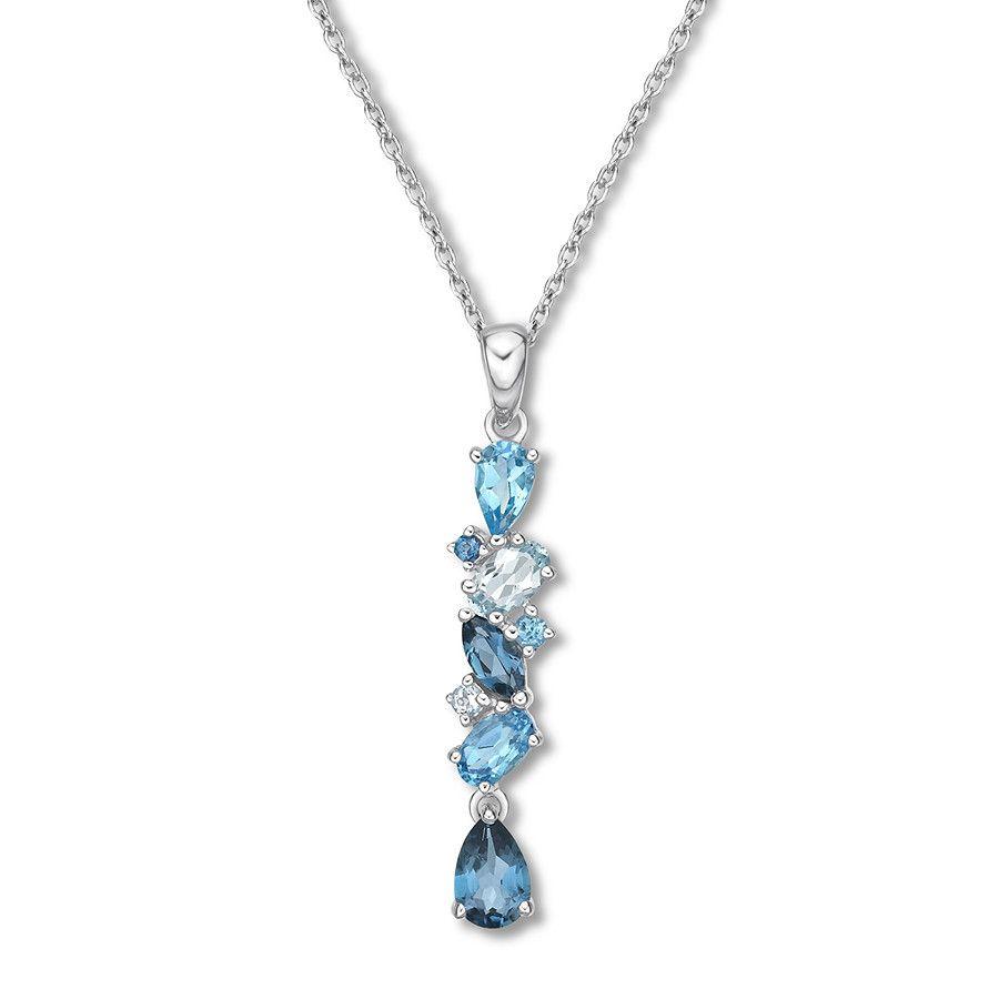 f8574147d Blue Topaz Necklace Sterling Silver in 2019 | Jewelry | Blue topaz ...
