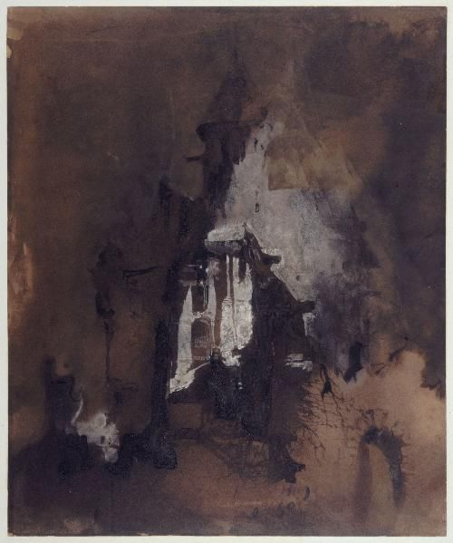Souvenir de Normandie de Victor Hugo, 1859, dessin à la plume et