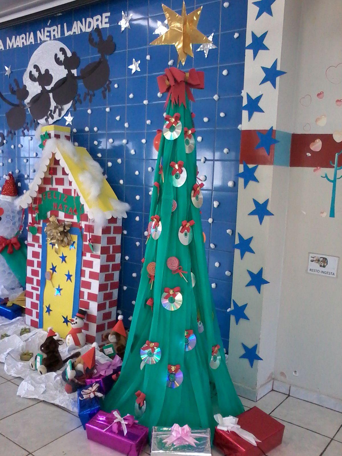 Arvore De Natal Feita Com Armacao De Bambole E Tnt Porta Da