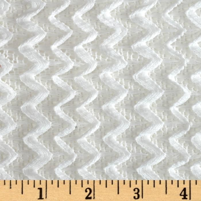 Copacabana Stretch Crochet Chevron Lace White