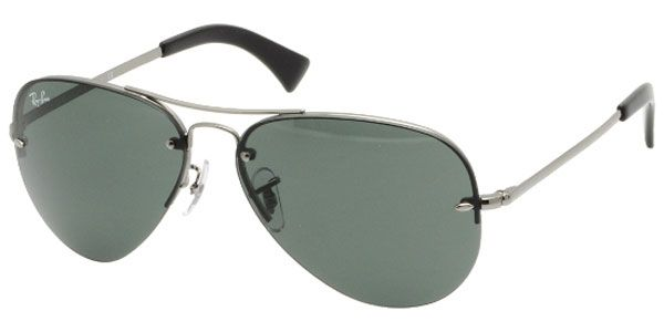 d2030d2564 Rayban RB 3449 004 71 Gunmetal Green Sunglasses - AAM