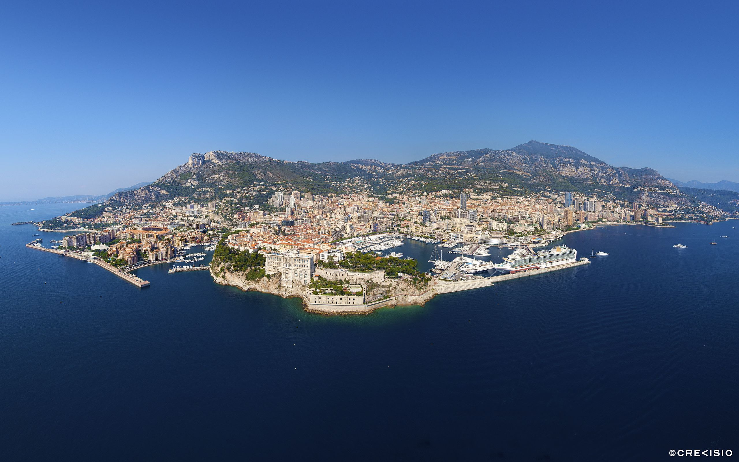 Bird's Eye Panorama over Monaco