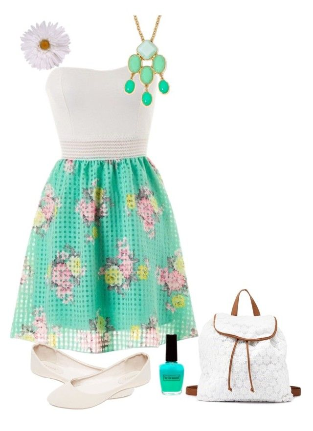 """Backpack - turquoise"" by colourfulxchaos on Polyvore"