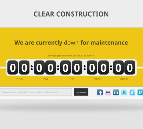 45 neat coming soon and under construction templates resources