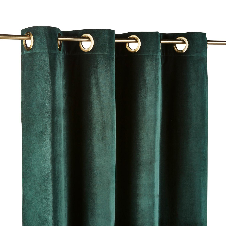 Emerald Velours Ringgordijnen 140x300 1 Stuk Maisons Du Monde