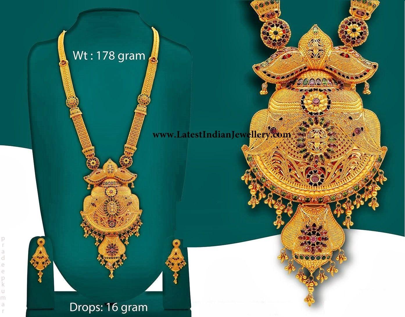 66b950538cb Calcutta Design Bridal Gold Haram | Style inspiration | Gold haram ...