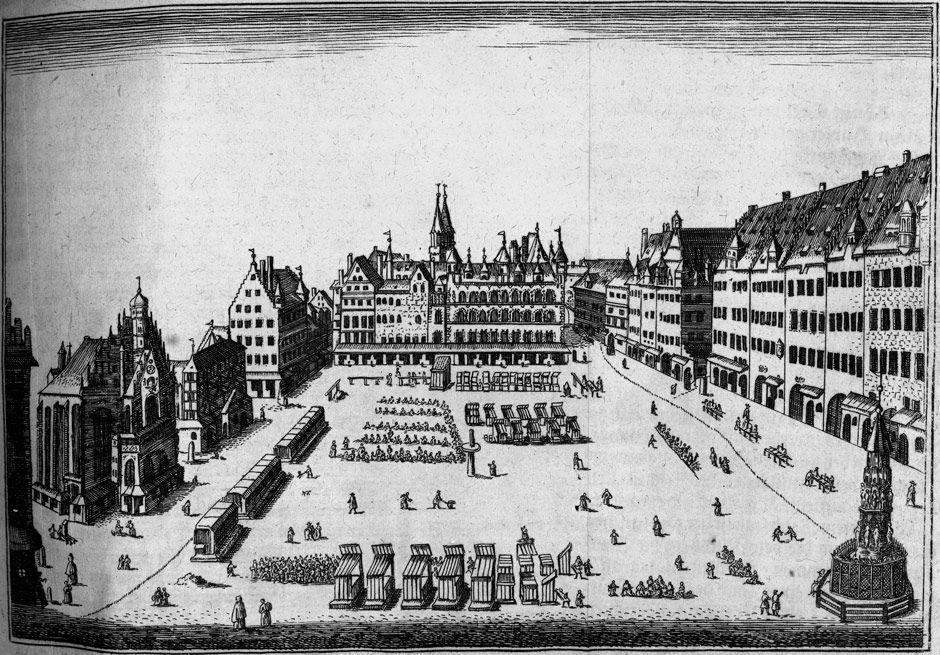 Nürnberg Hauptmarkt 1707 - Hauptmarkt (Nürnberg) – Wikipedia