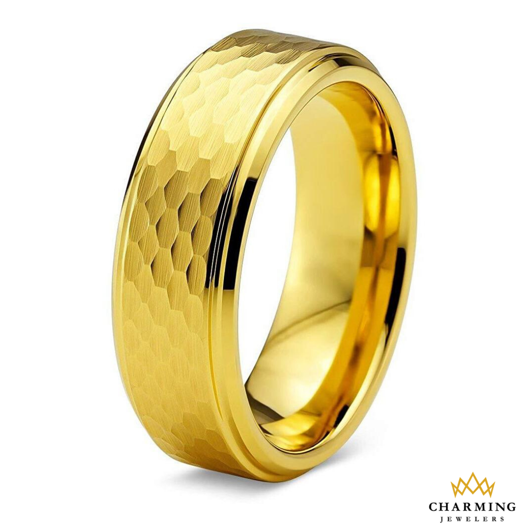 Made from Real Tungsten Carbide Bands for Mens Womens 18K