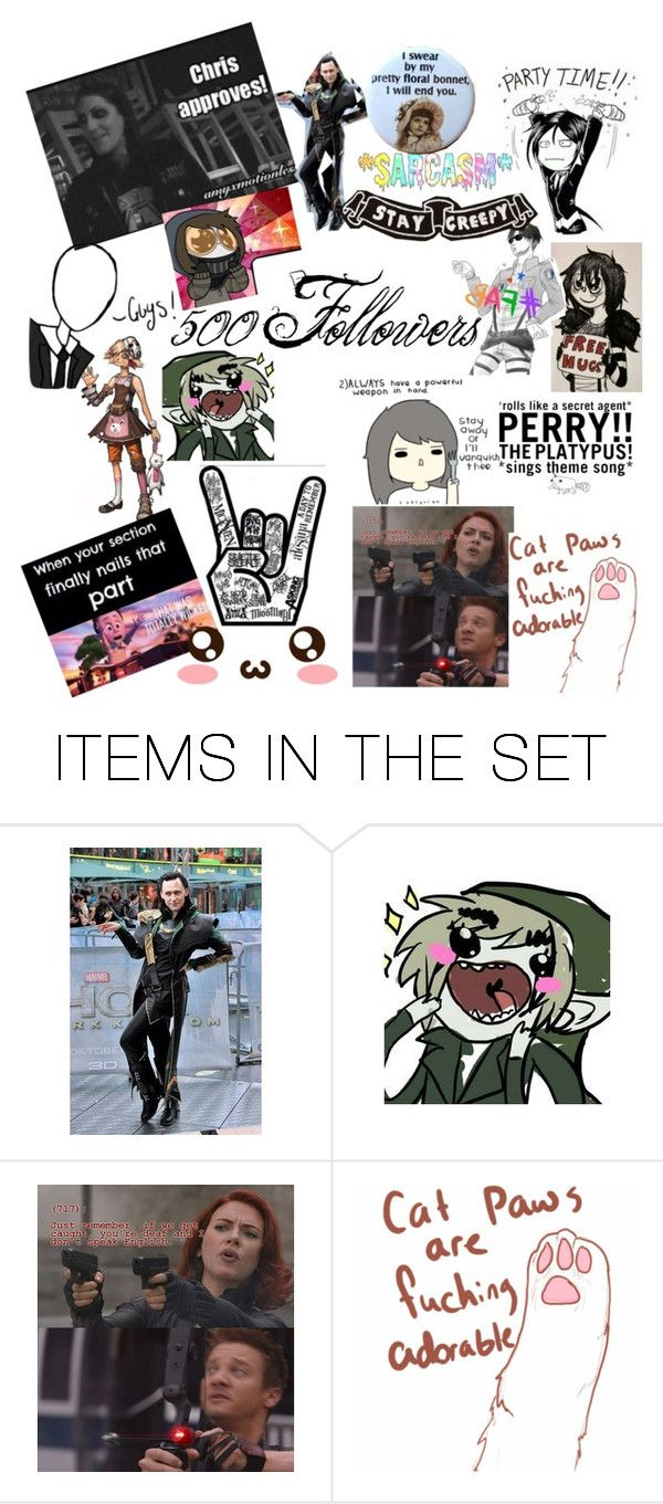 """500 Followers"" by xxsherylberylxx ❤ liked on Polyvore featuring art"