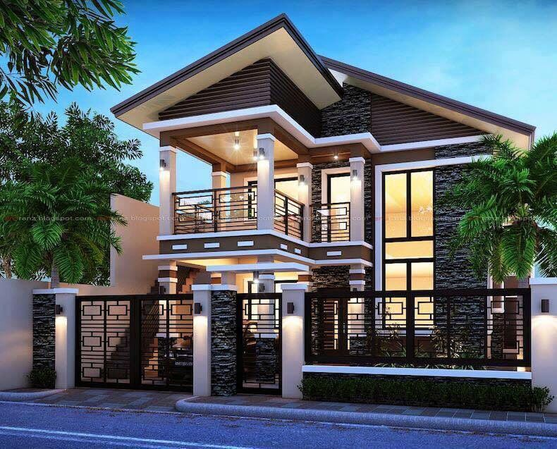0bada2347d34b398347a28bbdac18ef6 - 28+ Small Two Story Modern House Exterior Design Images