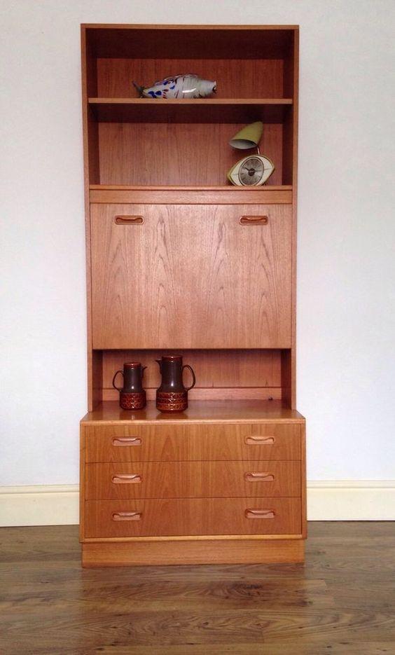 G Plan Fresco teak desk cabinet cupboard ideal room divider 1960