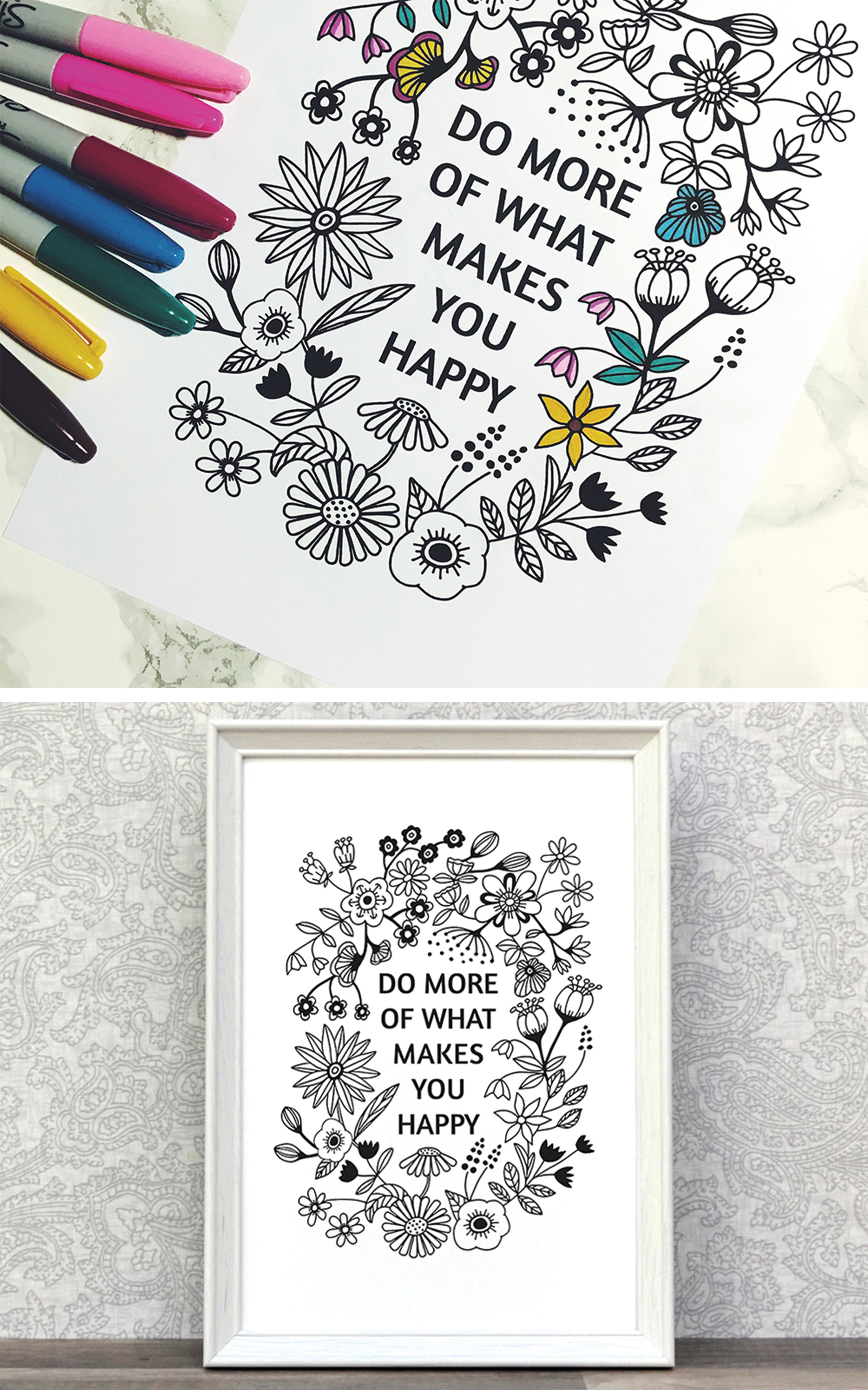 Printable Coloring Page On Etsy