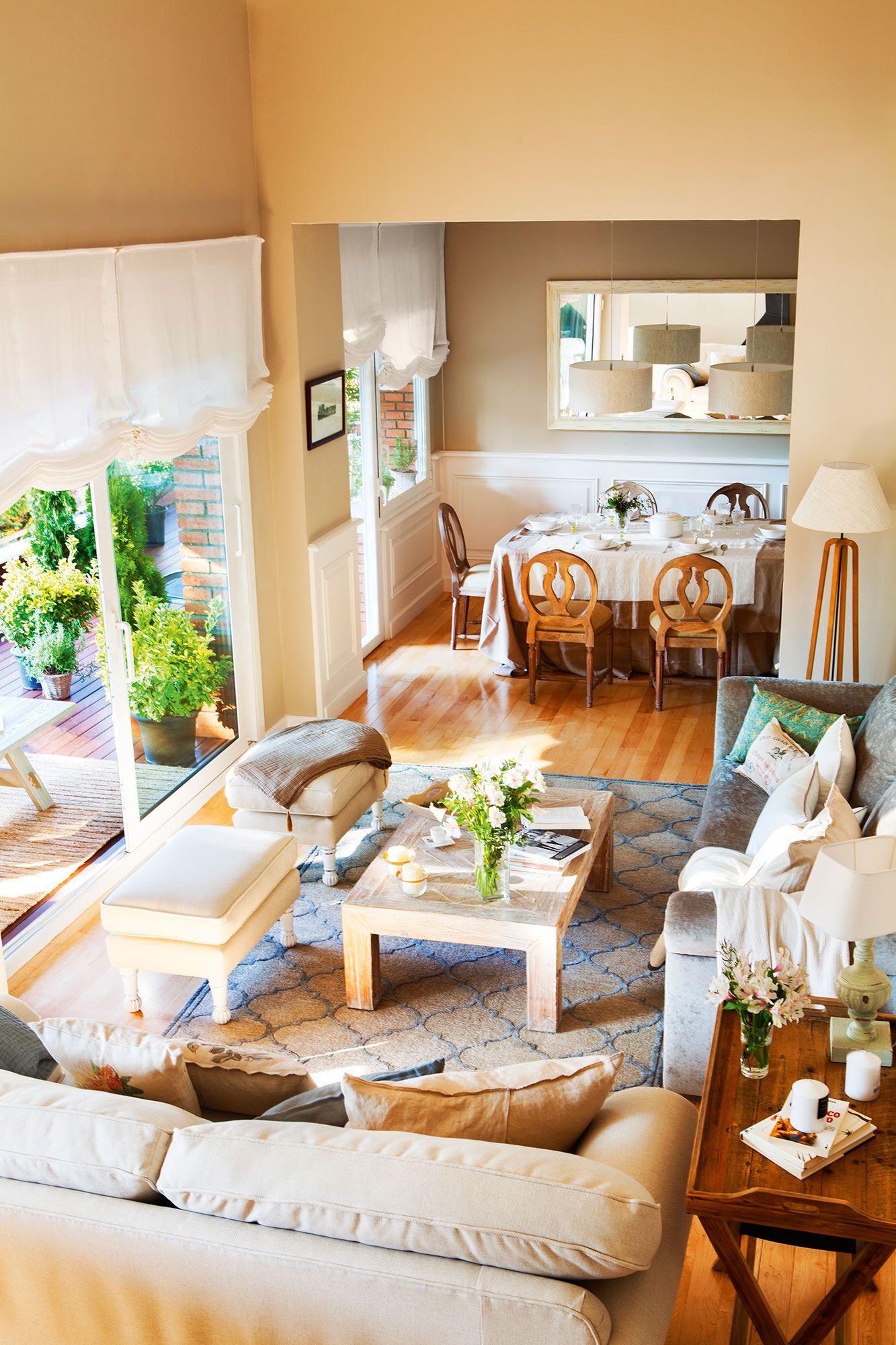 Salones con comedor: buenas ideas para compartir espacio | Casas ...