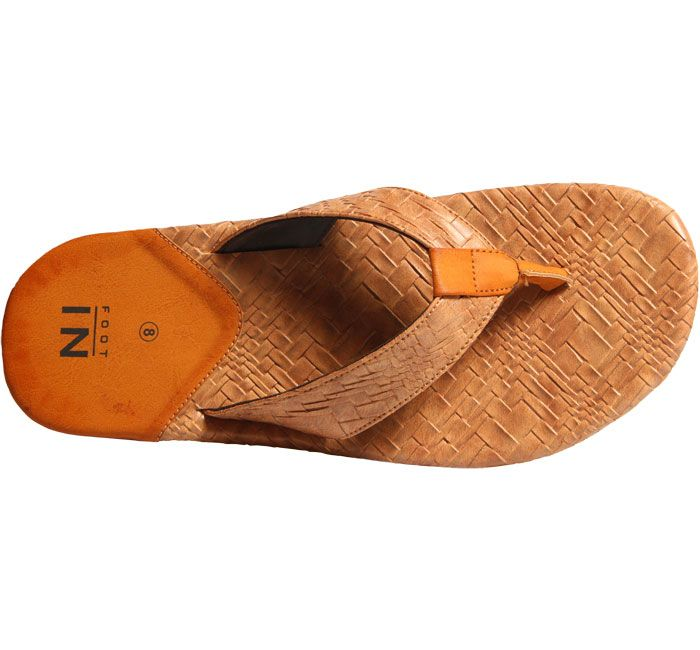 ac99f8117ed8 Buy Footin Brown Chappals For Men