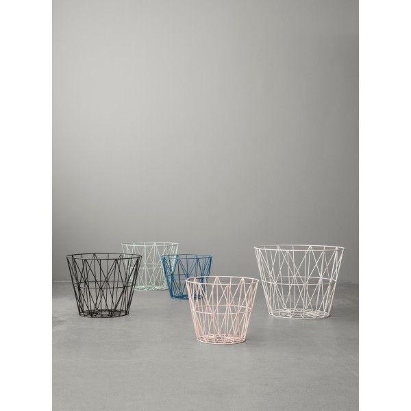 Ferm Living Wire Basket Korb Medium In Vielen Verschiedenen Farben Von @ Fermliving Zu Kaufen Bei