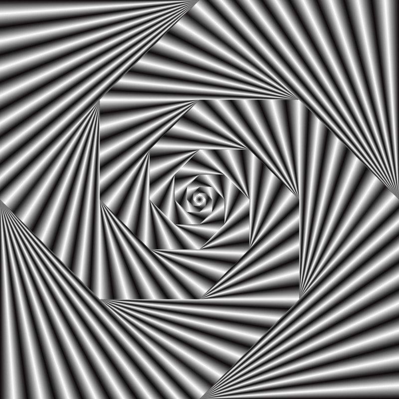 Optische illusion in schwarz und wei von heidemarie for 3d raumgestaltung