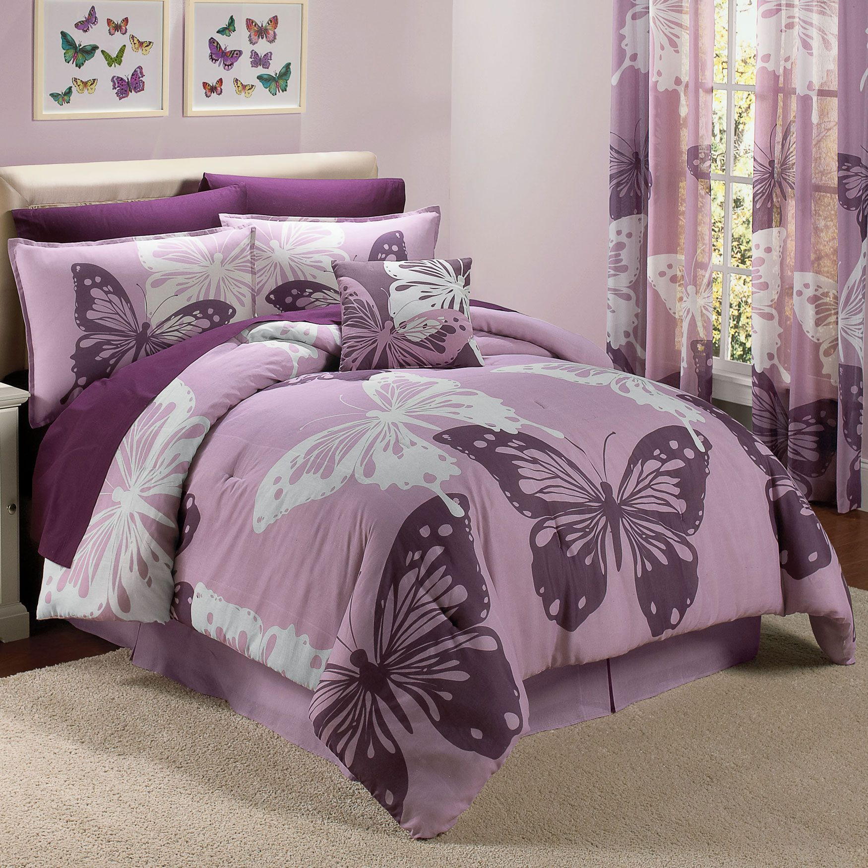 Butterfly Bedding Bed For My Girls Pinterest